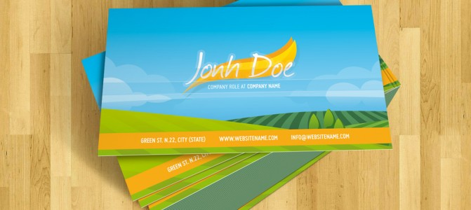 Serene nature - business card
