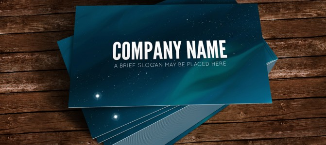 Starry night sky business card - Featured